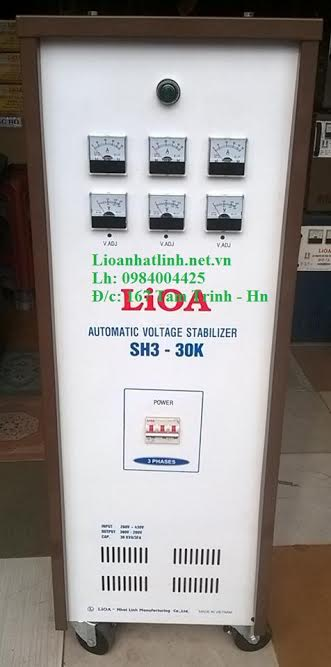 ỔN ÁP LIOA 30KVA 3 PHA MODEL SH3 - 30K NĂM 2016
