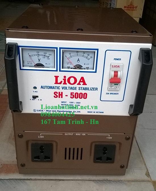 ỔN ÁP LIOA 5KVA( SH - 5000)  ĐỜI MỚI NHẤT NĂM 2016