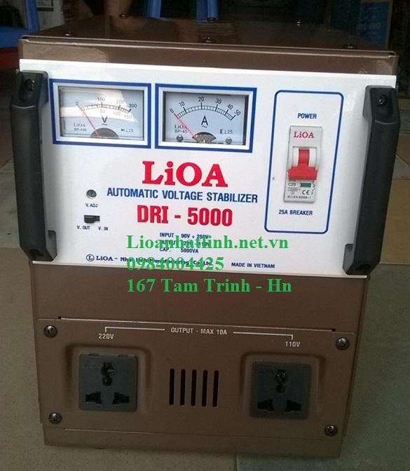 ỔN ÁP LIOA 5KVA( DRI - 5000)  ĐỜI MỚI NHẤT NĂM 2016