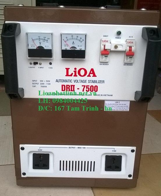 ổn áp lioa 7 5kva model drii - 7500 giá bao nhiêu