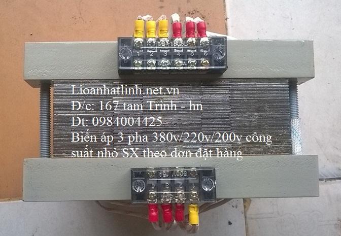 BIẾN ÁP 3 PHA 380V/ 200V 2KW