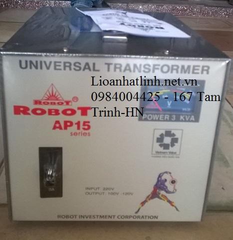 BIẾN ÁP ROBOT 3KVA 1 PHA