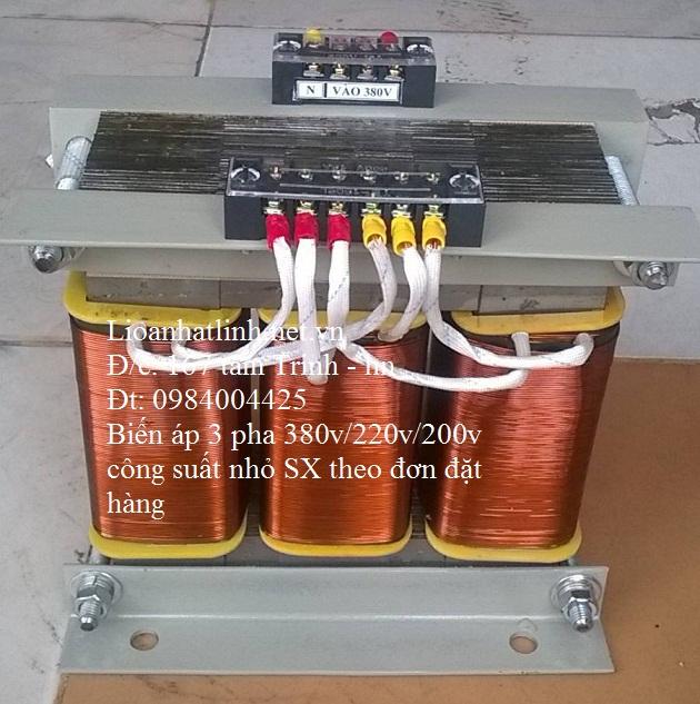 BIẾN ÁP 3 PHA 380V/ 220V 3KW