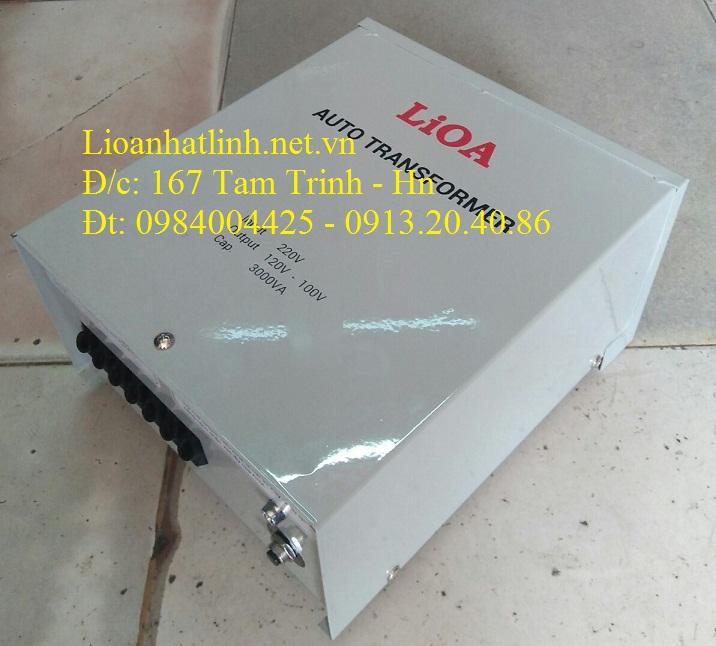 BIẾN ÁP LIOA 220V/100V/110V 3KVA