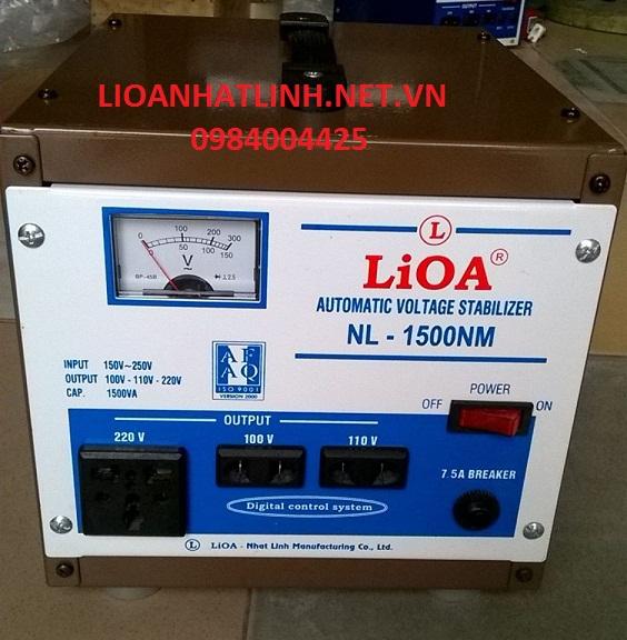 ổn áp lioa 1,5 kva dải (50v-250v)