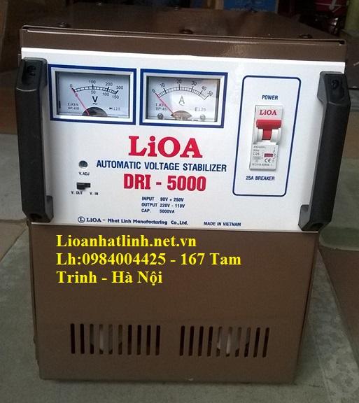 ổ áp lioa 5kva model DRI-5000