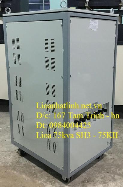 phía sau ổn áp lioa 100kva 3 pha DR3 - 100K II