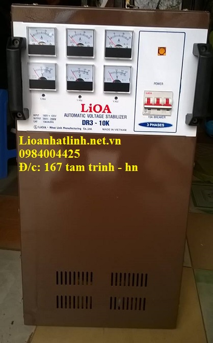 ỔN ÁP LIOA 10KVA 3 PHA MODEL DR3 - 10K NĂM 2016