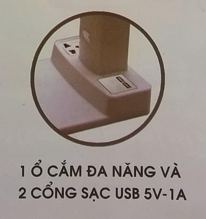 ĐÈN BÀN KHỚP QUAY LIOA LOẠI CÓ CỔNG USB