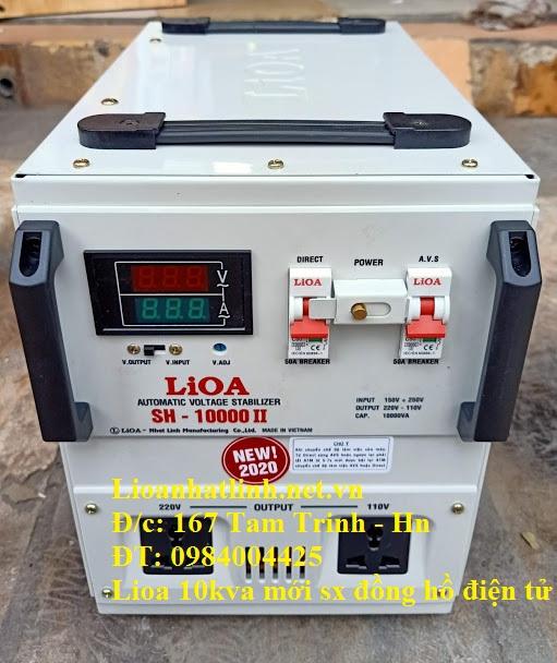 ỔN ÁP LIOA 10KVA SH - 10000 II ĐỒNG HỒ ĐIỆN TỬ