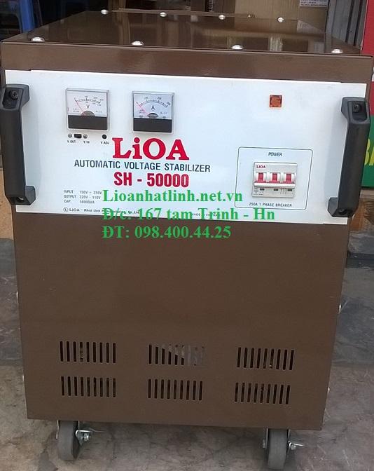 ỔN ÁP LIOA 1 PHA 50KVA MODEL SH - 50000 MỚI NHẤT 2017