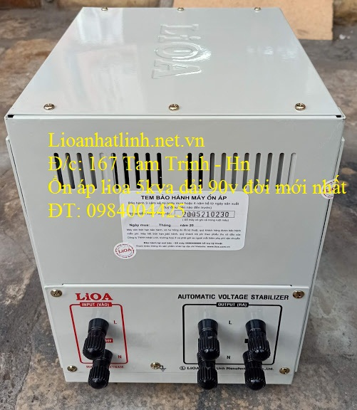 PHÍA SAU ỔN ÁP LIOA 5KVA SH - 5000 II