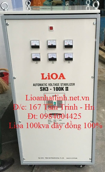 ỔN ÁP LIOA 100KVA 3 PHA MODEL SH3 - 100K II