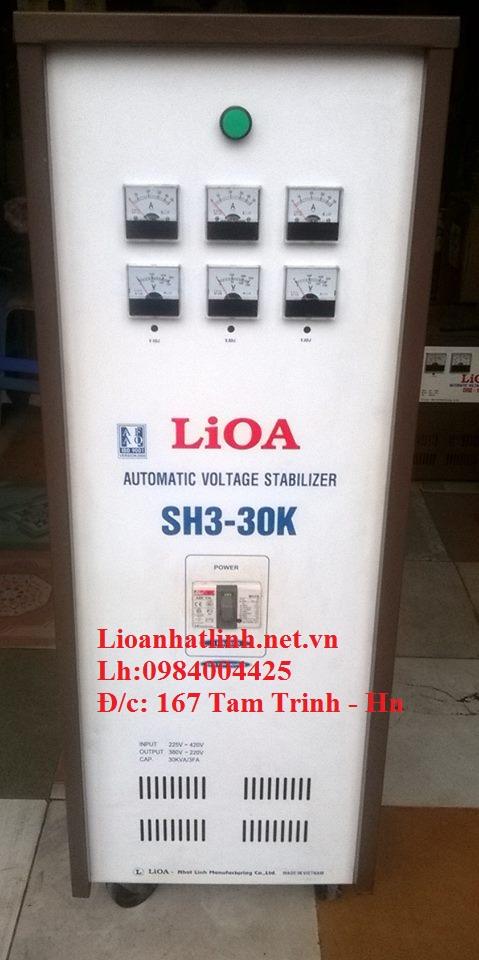 ổn áp lioa sh3 - 30k 3 pha hàng tồn kho