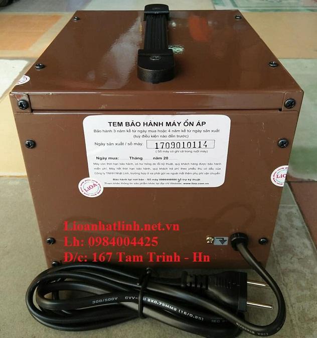 PHÍA SAU ỔN ÁP LIOA 1KVA MODEL SH - 1000