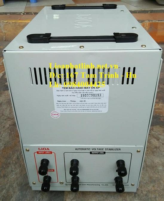 PHÍA SAU ỔN ÁP LIOA 7.5KVA SH - 7500 II