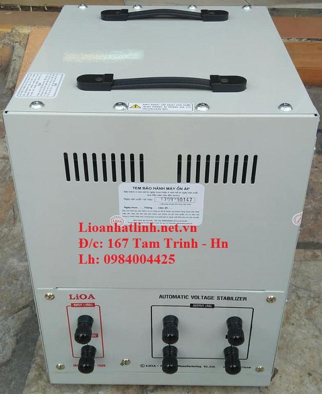 PHÍA SAU ỔN ÁP LIOA 7 5KVA DRII - 7500 DẢI 50V ~ 250V