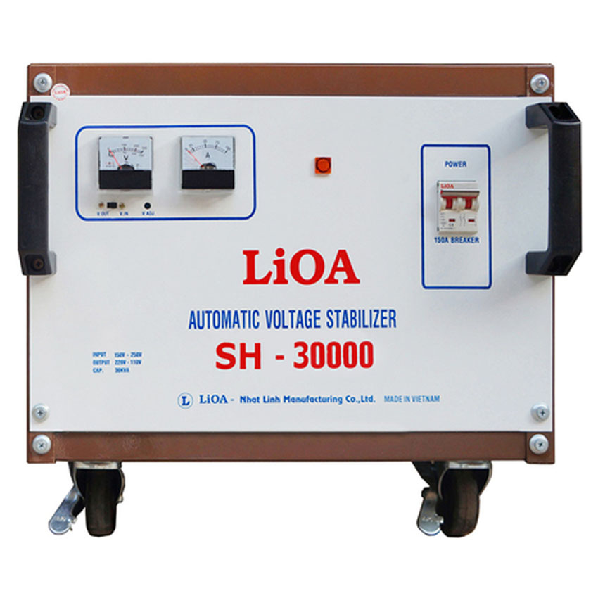 ổn áp lioa 30kva model sh - 30000 giá bao nhiêu