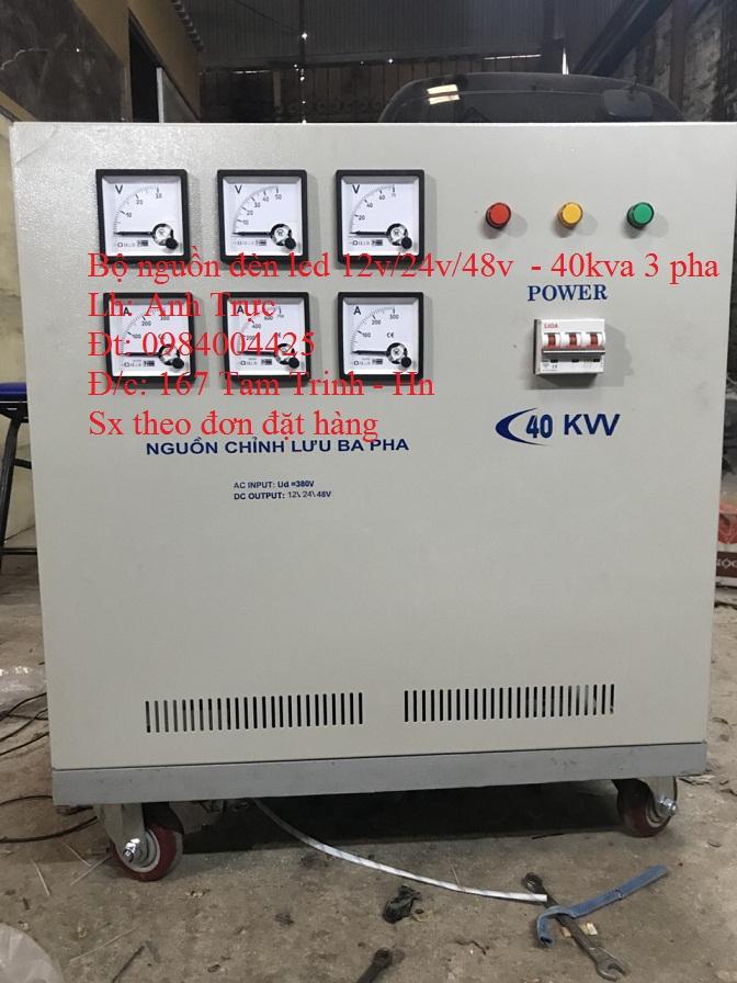 Bộ nguồn đèn led 12v/24v/48v - 40kw 3 pha