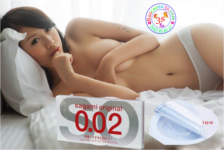 Bao cao su sagami 0.02 mỏng nhất thế giới, chống dị ứng