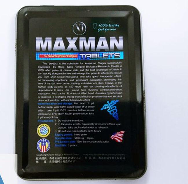 maxman chống xuất tinh sớm