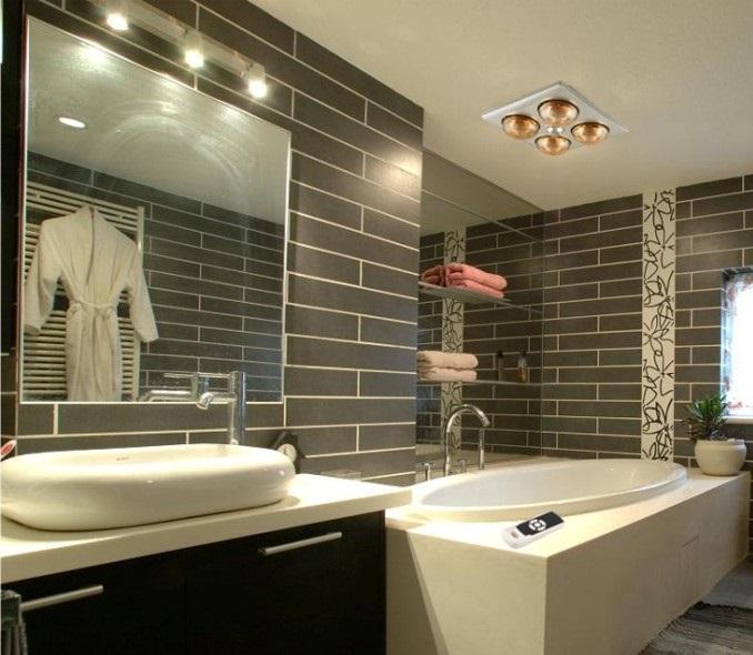 đèn sưởi phòng tắm kangaroo phòng tắm kính