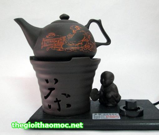 bộ đun nước pha trà bằng đất nung