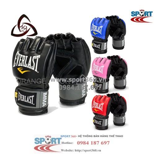 Găng võ tự do MMA hãng Everlast cao cấp,Bao đấm boxing tiêu chuẩn phòng tập