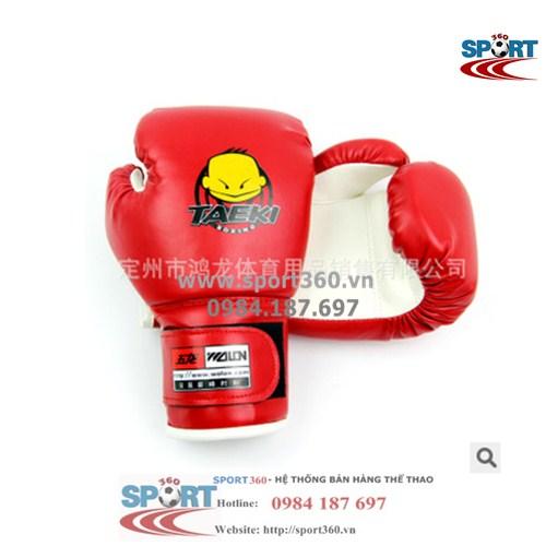 Găng boxing trẻ em Taeki màu đỏ