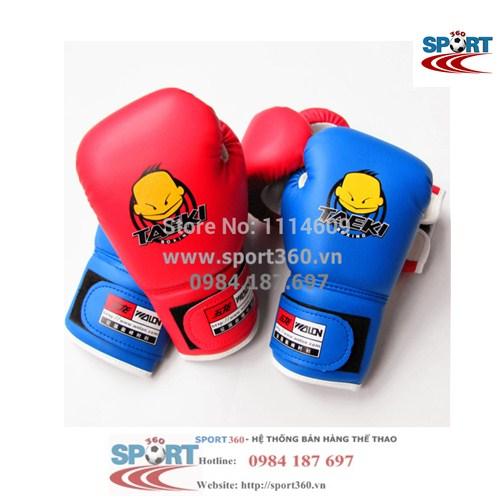 Găng boxing trẻ em Taeki màu xanh
