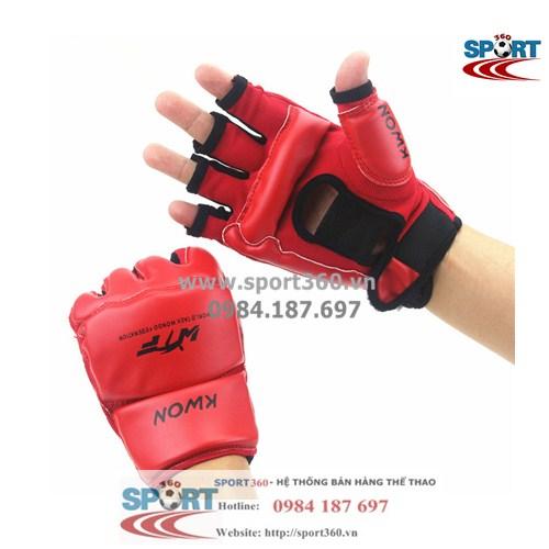 Găng đấm Muay Thai hãng Kwon màu đỏ