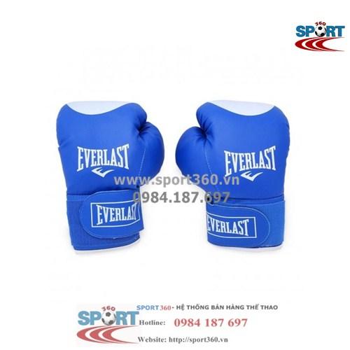 Găng Boxing Everlast tiêu chuẩn màu xanh