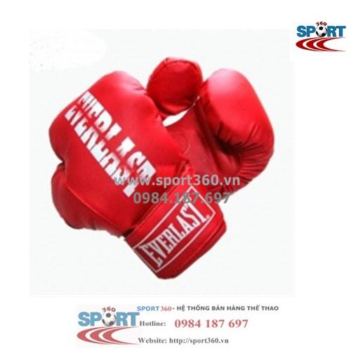 Găng Boxing Everlast tiêu chuẩn màu đỏ