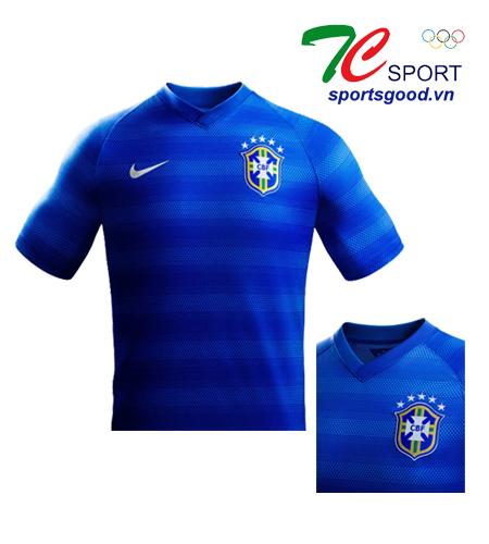Quần áo bóng đá đội tuyển Brazil xanh 2014