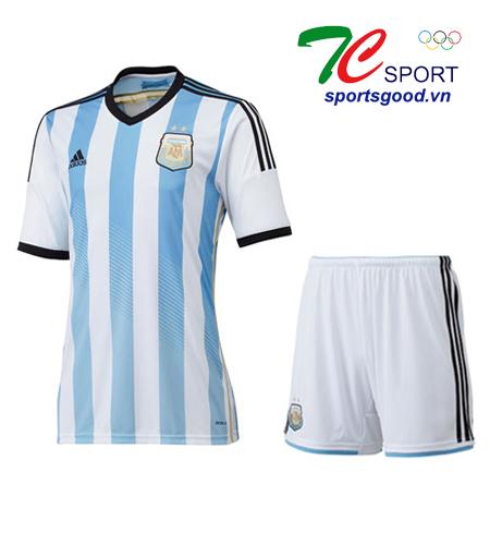Quần áo bóng đá Argentina 2014 sọc trắng xanh