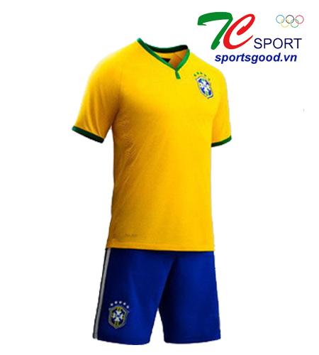 Quần áo bóng đá đội tuyển Brazil màu vàng 2014
