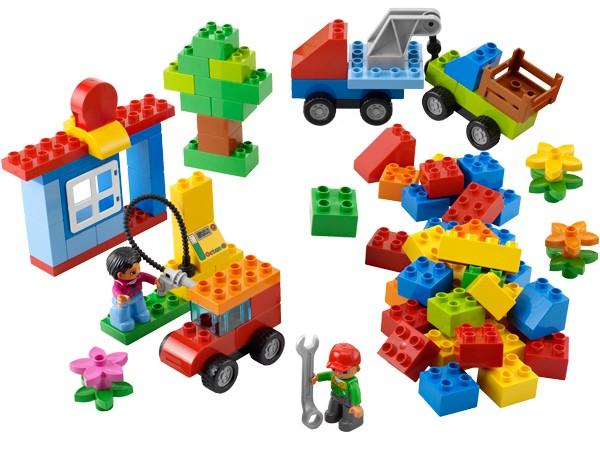 Đồ chơi xếp hình Lego Duplo 6052 - Bộ phương tiện di chuyển đầu tiên