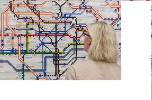 Bản đồ tàu điện ngầm bằng Lego