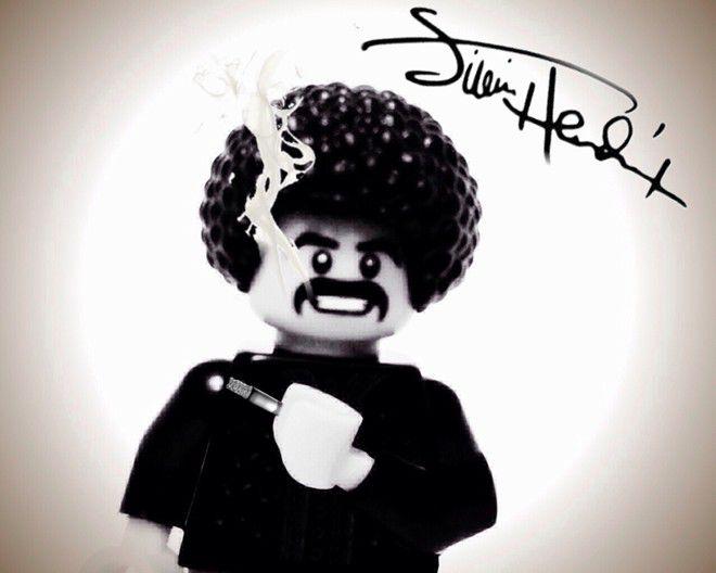 ngôi sao làng nhạc thế giới bằng Lego