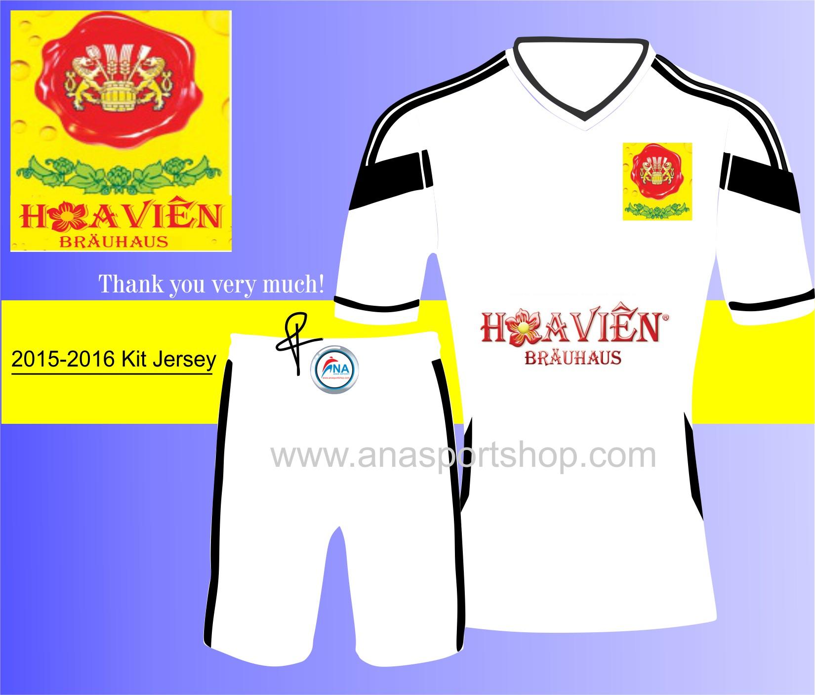 Mẫu áo bóng đá thiết kế Hoa Vien Beer