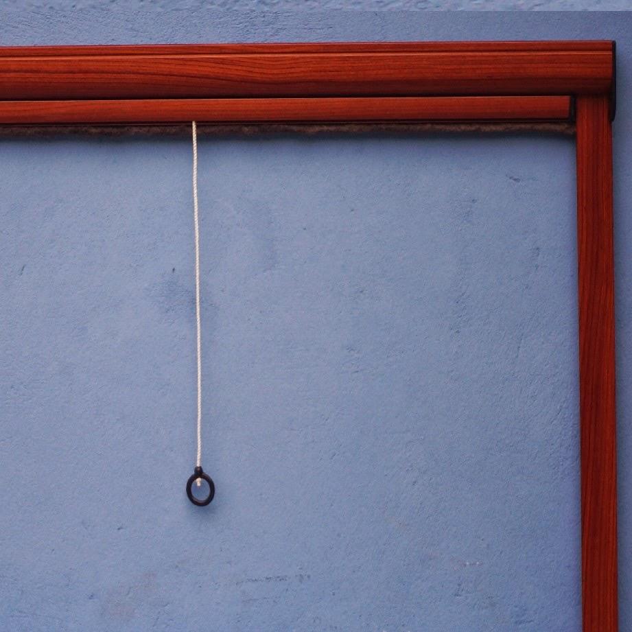 Cửa lưới tự cuốn màu vân gỗ