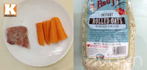 Cháo yến mạch cà rốt thịt băm thực phẩm dinh dưỡng cần thiết cho bé yêu