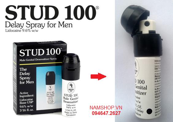 Chai xịt kéo dài thời gian quan hệ lâu hơn stud 100 spray