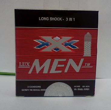 Bao cao su Lux Men có gai gân kéo dài thời gian quan hệ