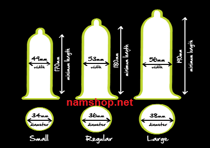 Phân loại kích cỡ bao cao su phổ biến hiện nay