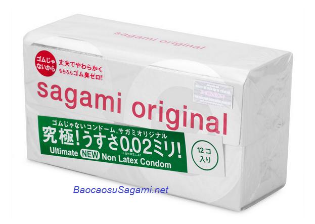 Bao cao su siêu mỏng, chống dị ứng Sagami Original 0.02