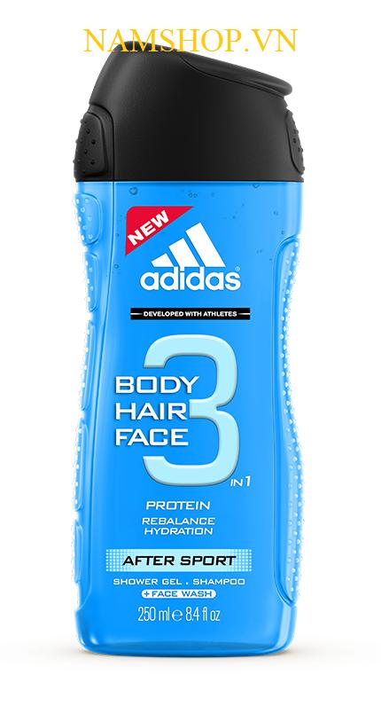 Gel tắm gội toàn thân Adidas After Sport
