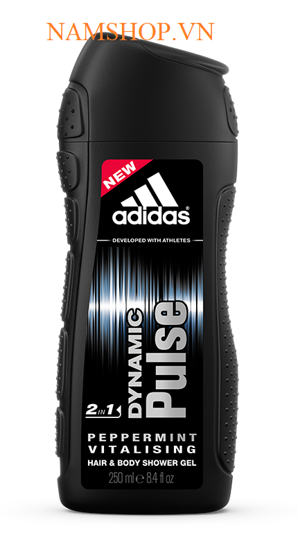 Gel tắm gội 2 in 1 Adidas Dynamic Pluse