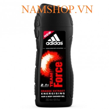 Gel tắm gội 2in1 cho nam Adidas Team Force