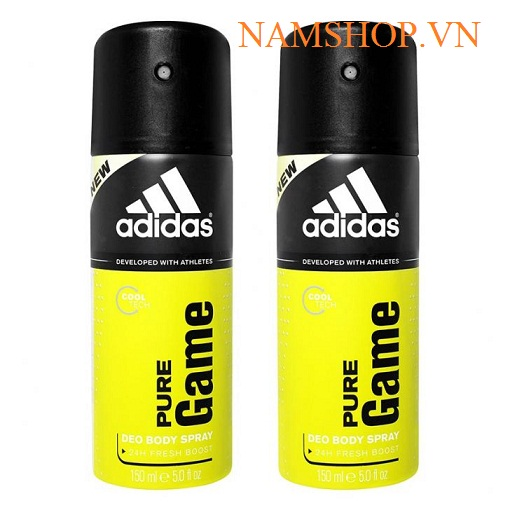 Xịt khử mùi toàn thân hương nước hoa Adidas Pure Game
